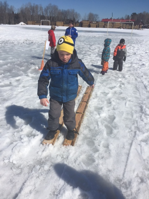 Caleb skis to victory